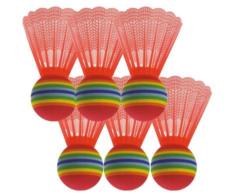 Satz mit 6 Riesen-Badmintonbaellen