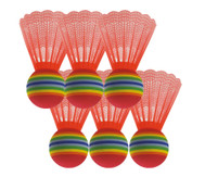 Satz mit 6 Riesen-Badmintonbällen