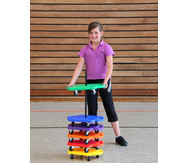 Rollbretter, 5 Stück in 5 Farben + Ständer