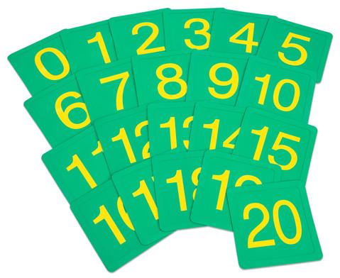 Zahlenfelder von 0 bis 20-1