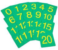 Zahlenfelder von 0 bis 20