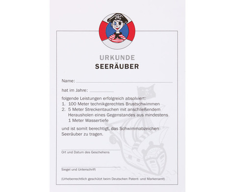 Urkunde Seeraeuber