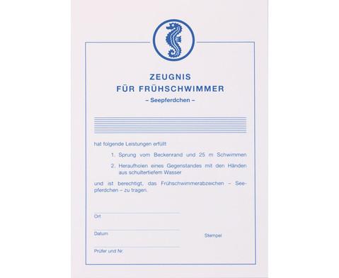 BECO Zeugnis fuer Fruehschwimmer