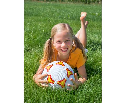 Schulhof-Fussball gelb-7
