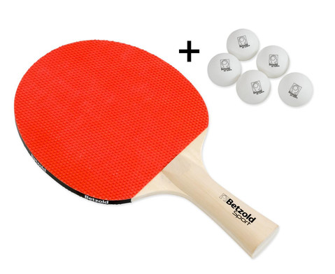 Betzold Jubilaeums Tischtennisschlaeger Flash  5 Baelle GRATIS