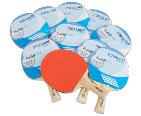 Betzold Sport Tischtennisschlaeger Flash 10er-Set