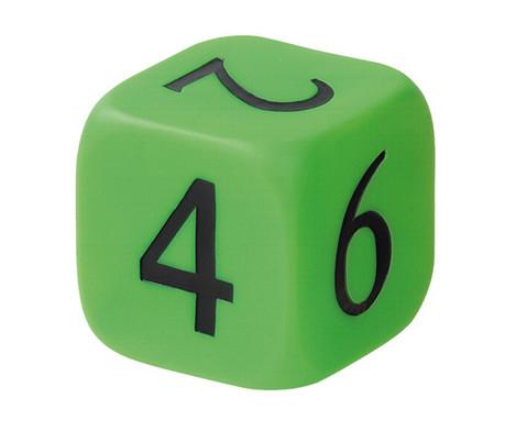 Zahlenwuerfel 1-6 gruen