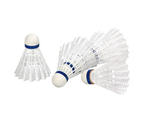6 weisse Badminton-Baelle-6