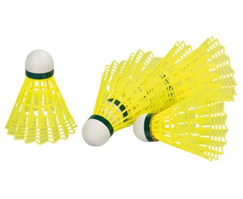 6 gelbe Badminton-Baelle-3