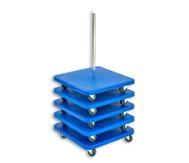 Rollbrett-Ständer + 5 große Rollbretter