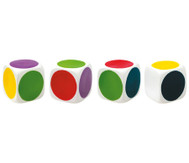 Farb-Würfel aus Weichplastik