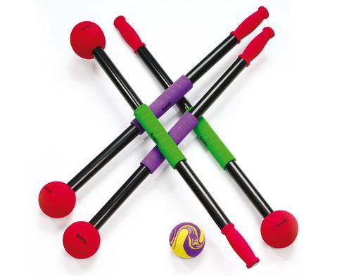 4er-Set Rollbrett-Paddel mit Ball