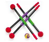 Rollbrett-Paddel mit Ball, 4er-Set