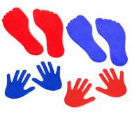 Bodenmarkierungsset Hände & Füße