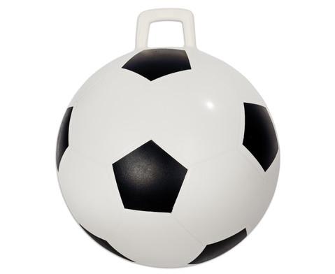 Huepfball im Fussball-Design 46 cm Durchmesser