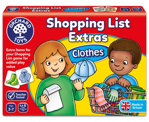 Shopping List Booster Pack Clothes