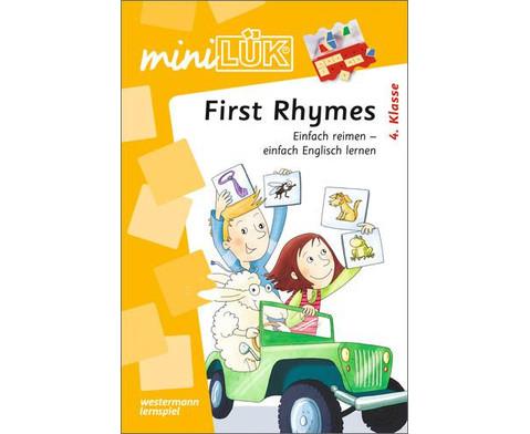 miniLUEK-Heft First Rhymes-1