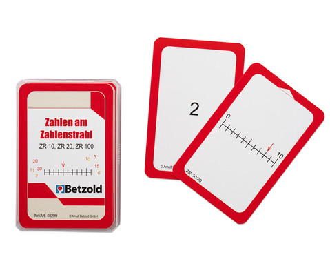 Betzold Zahlen am Zahlenstrahl - Karten fuer den Magischen Zylinder
