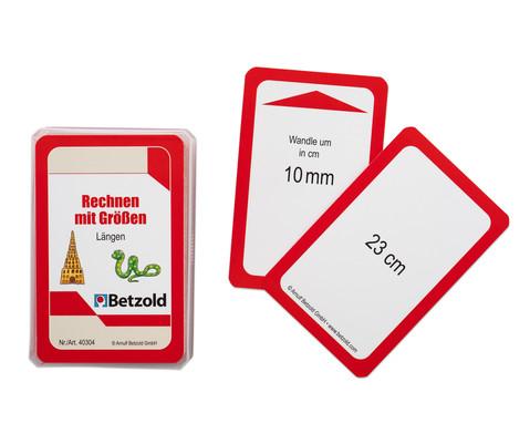 Betzold Rechnen mit Laengen - Kartensatz fuer den Magischen Zylinder