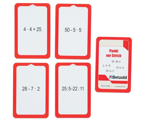 Kartensatz fuer den Magischen Zylinder - Punkt vor Strich-3