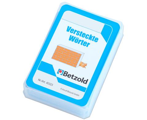 Betzold Versteckte Woerter - Kartensatz fuer den Magischen Zylinder