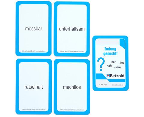 Endung gesucht - Kartensatz fuer den Magischen Zylinder-5