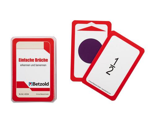Kartensatz fuer den Magischen Zylinder - Einfache Brueche erkennen und benennen