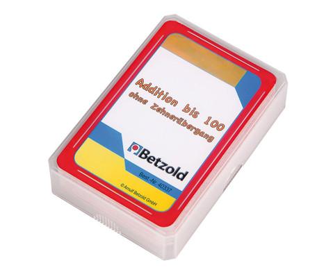 Addition bis 100 ohne Zehneruebergang - Kartensatz fuer den Magischen Zylinder
