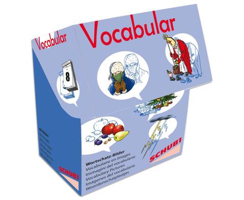 Vocabular Wortschatzbilder Kalender Zeit Wetter
