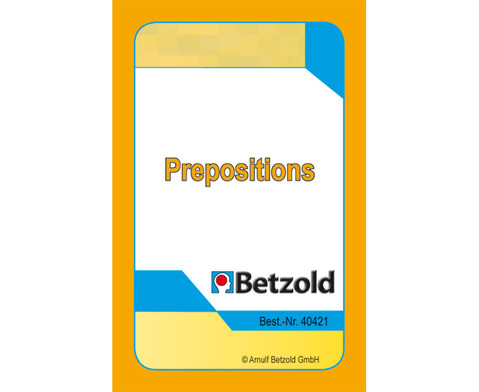 Prepositions - Kartensatz fuer den Magischen Zylinder