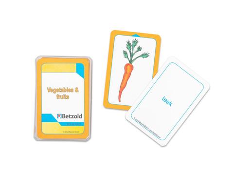 Betzold Kartenspiel fuer Magischen Zylinder Vegetables und Fruits