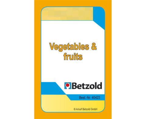 Kartenspiel fuer Magischen Zylinder Vegetables und Fruits