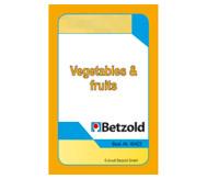 Kartenspiel für Magischen Zylinder, Vegetables und Fruits