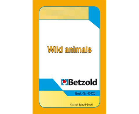 Kartenspiel fuer Magischen Zylinder Wild Animals-1