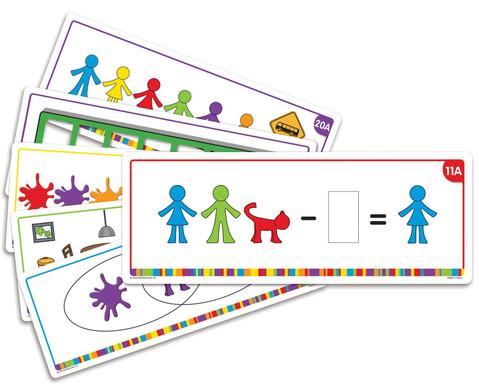 Lernkarten Kunterbunte Rechenfamilie
