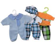 Puppenkleidung, 3er-Set Jungs