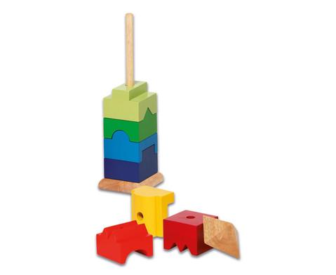 Stapelturm aus Holz 9-tlg-2