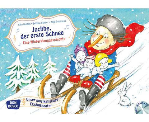 Bildkarten Juchee der erste Schnee-1