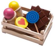Holzsteige Süßigkeiten
