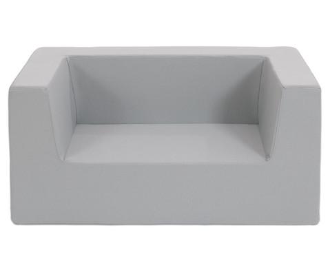 Sofa mit Rueckenlehne und Armstuetzen Webstoff-21