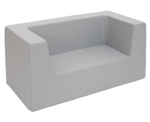 Sofa mit Rueckenlehne und Armstuetzen Webstoff-3