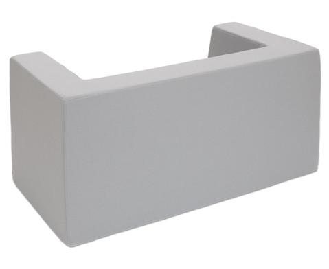 Sofa mit Rueckenlehne und Armstuetzen Webstoff-4