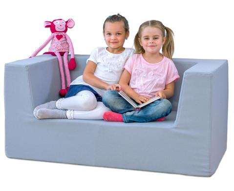 Sofa mit Rueckenlehne und Armstuetzen Webstoff-6