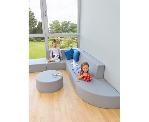 Sofa mit Rueckenlehne Webstoff-9