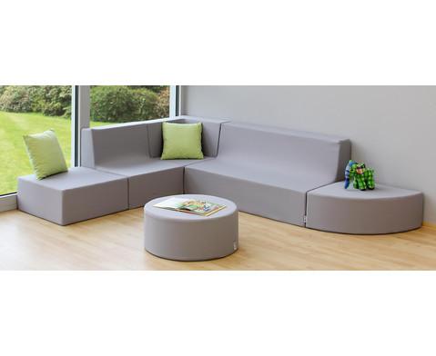 Sofa mit Rueckenlehne Webstoff-11