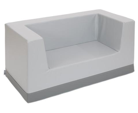 Sofa mit Rueckenlehne und Armstuetzen Kunstleder-2