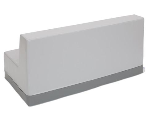Sofa mit Rueckenlehne Kunstleder-11