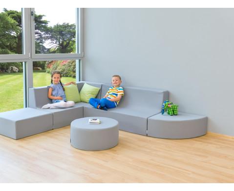 Sessel mit Lehne Webstoff-9