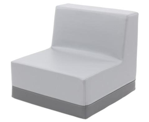 Sessel mit Rueckenlehne Kunstleder-8
