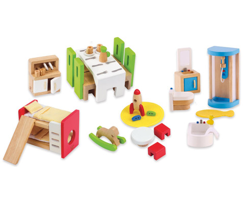 Puppen-Moebel-Set-Erweiterung 45-tlg